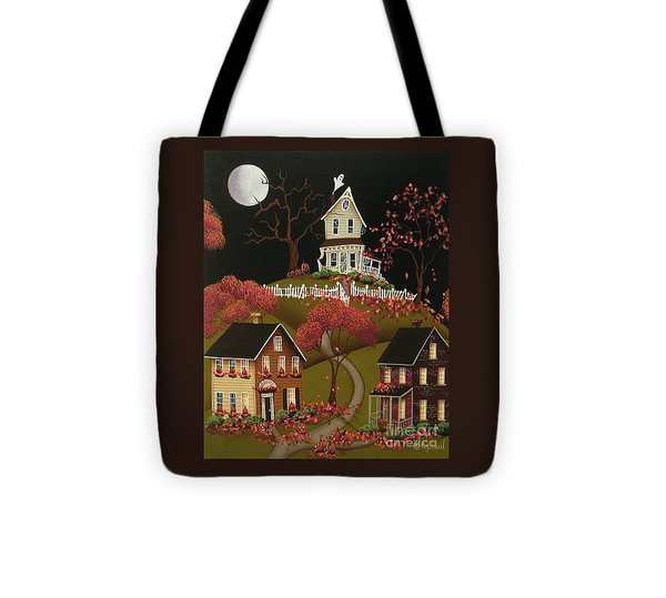 House On Haunted Hill Tote Bag by Catherine Holman