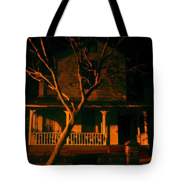 House On Haunted Hill Tote Bag by David Lee Thompson