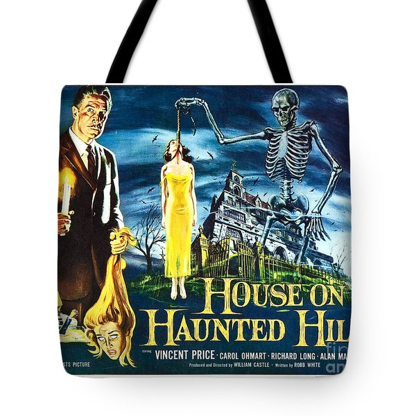 House On Haunted Hill Poster Classic Horror Movie  Tote Bag