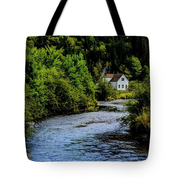 House On Margaree River Tote Bag by Ken Morris