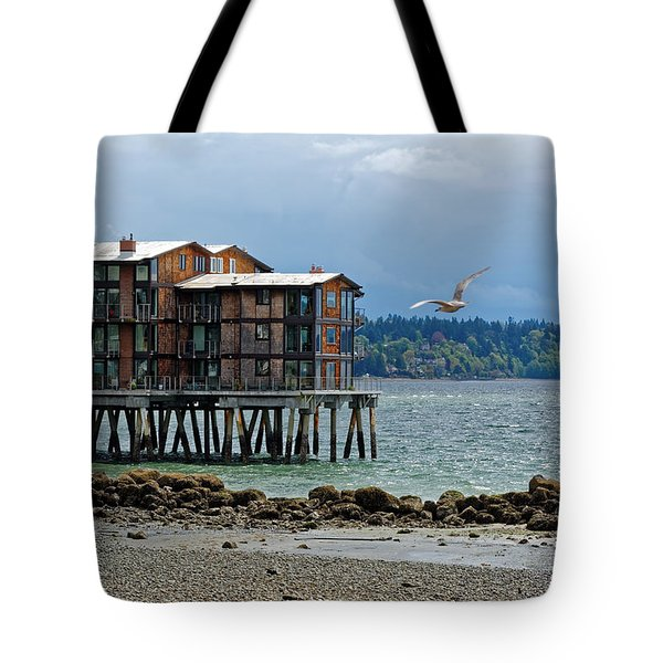 House On Stilts Tote Bag