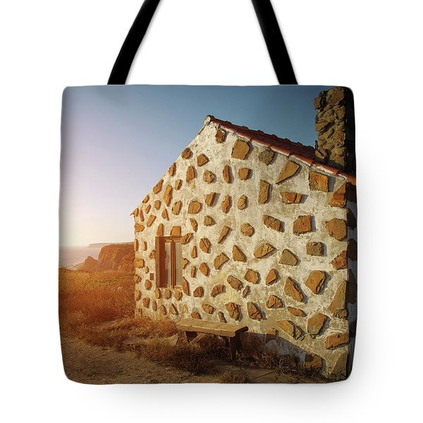 Tote Bag featuring the photograph House On The Cliff by Carlos Caetano