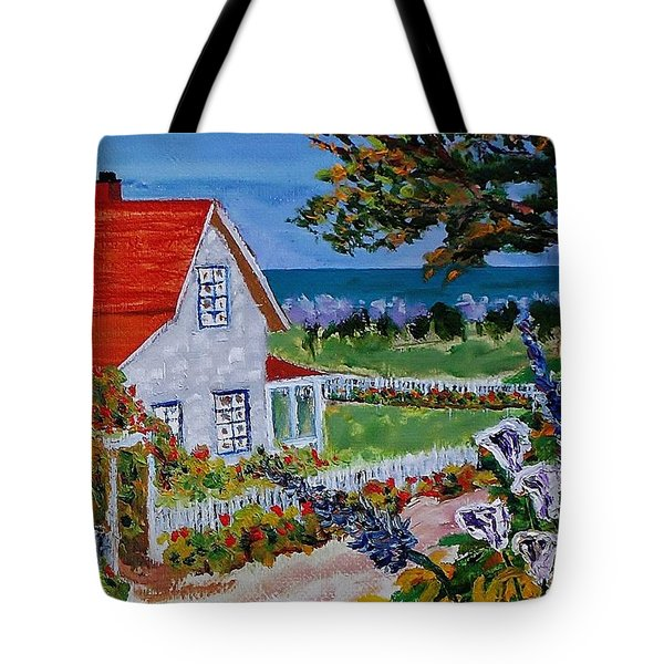 House On The Coast Tote Bag by Mike Caitham