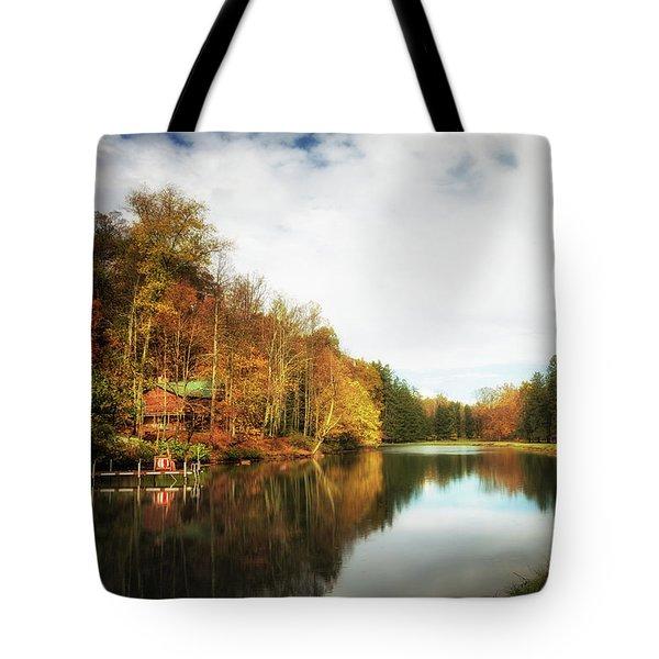 House On The Lake II Tote Bag