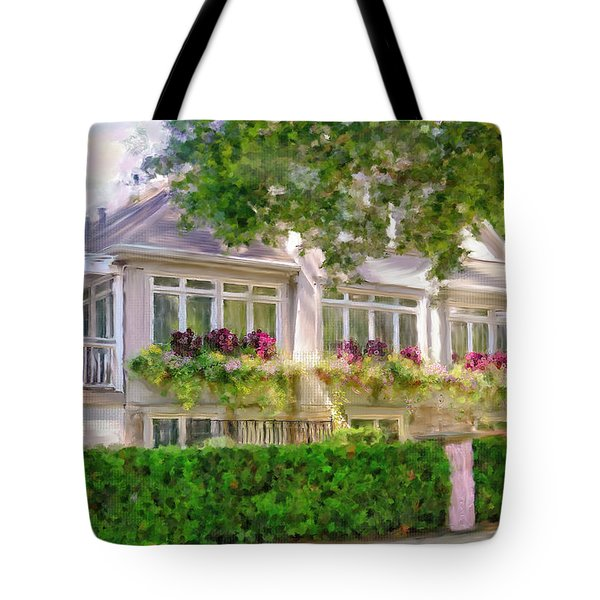 Tote Bag featuring the photograph House On The Lake by Mary Timman