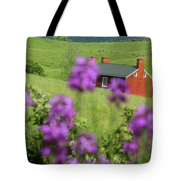 House On Virginia's Hills Tote Bag