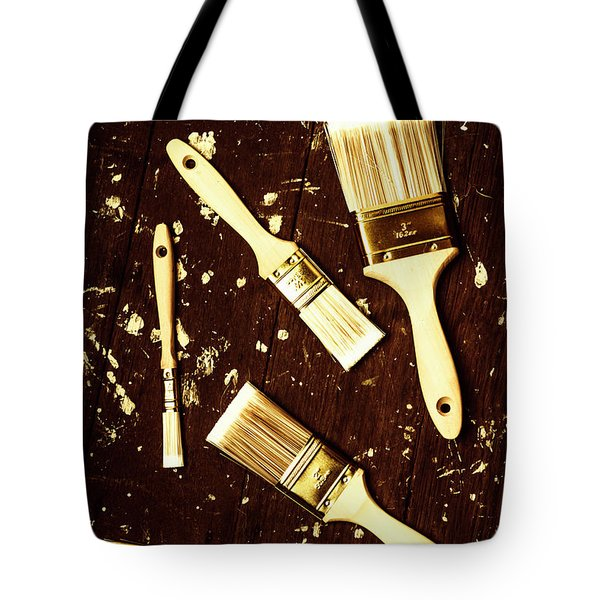 House Paint Abstract Tote Bag