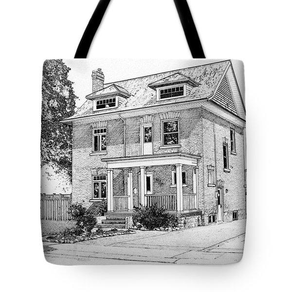 House Portrait In Ink 1 Tote Bag by Hanne Lore Koehler