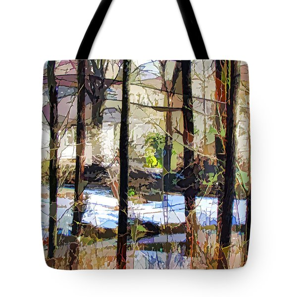 House Surrounded By Trees 2 Tote Bag by Lanjee Chee