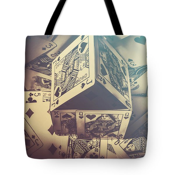 House That Poker Built Tote Bag