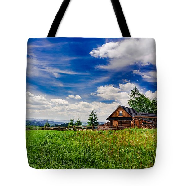 Tote Bag featuring the photograph House With The View by Dmytro Korol