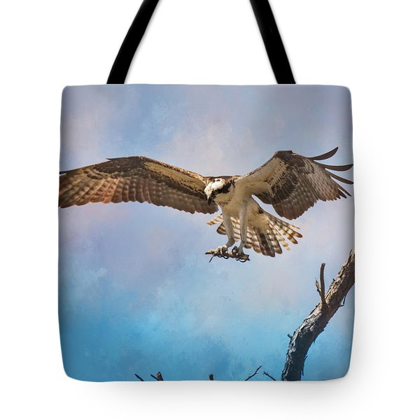 Housekeeping Osprey Art Tote Bag by Jai Johnson