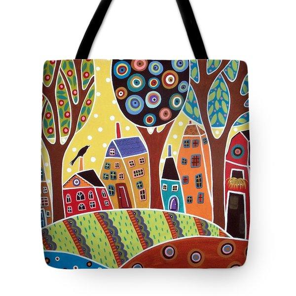 Houses Barn Landscape Tote Bag