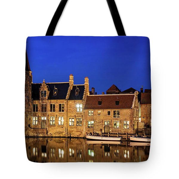 Houses By A Canal - Bruges, Belgium Tote Bag