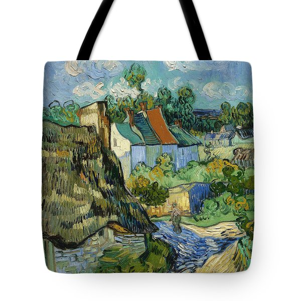 Tote Bag featuring the painting Houses In Auvers by Van Gogh