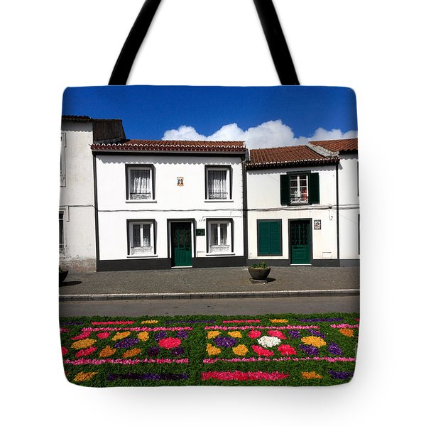 Houses In The Azores Tote Bag by Gaspar Avila
