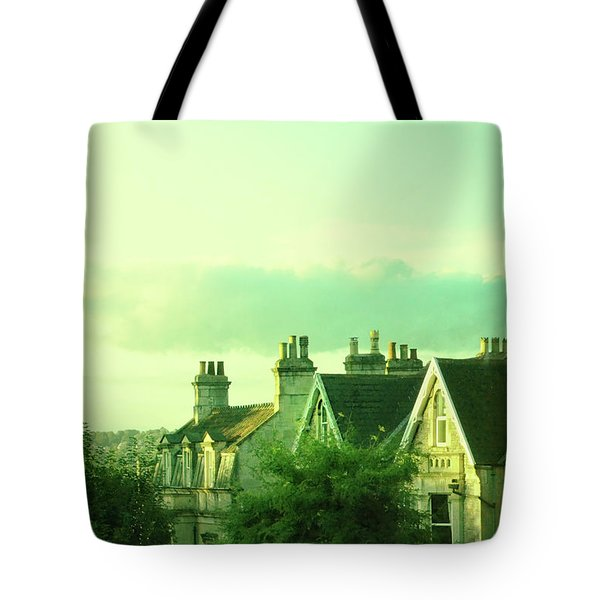 Tote Bag featuring the photograph Houses by Jill Battaglia