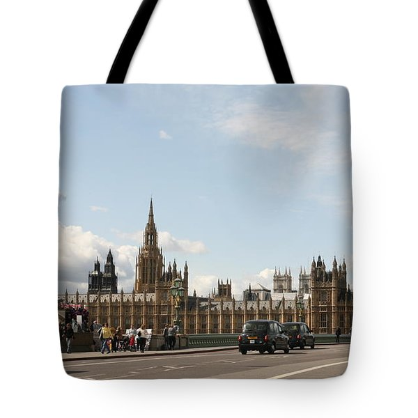 Houses Of Parliament.  Tote Bag