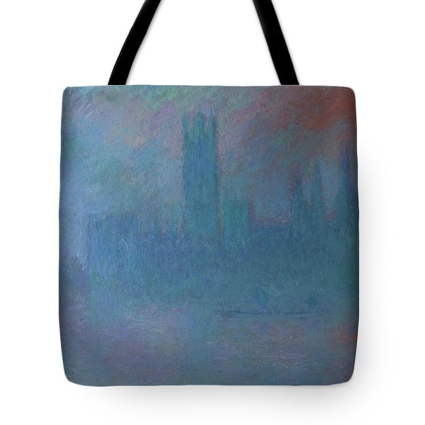 Houses Of Parliament In The Fog Tote Bag