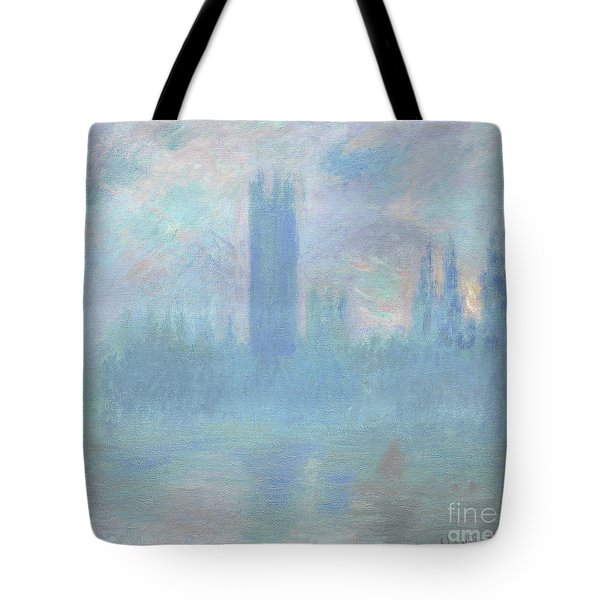 Houses Of Parliament  London Tote Bag by Claude Monet