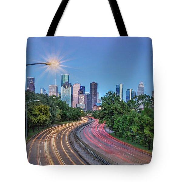 Houston Evening Cityscape Tote Bag