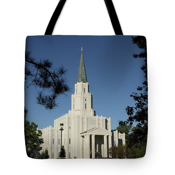 Houston Lds Temple Tote Bag
