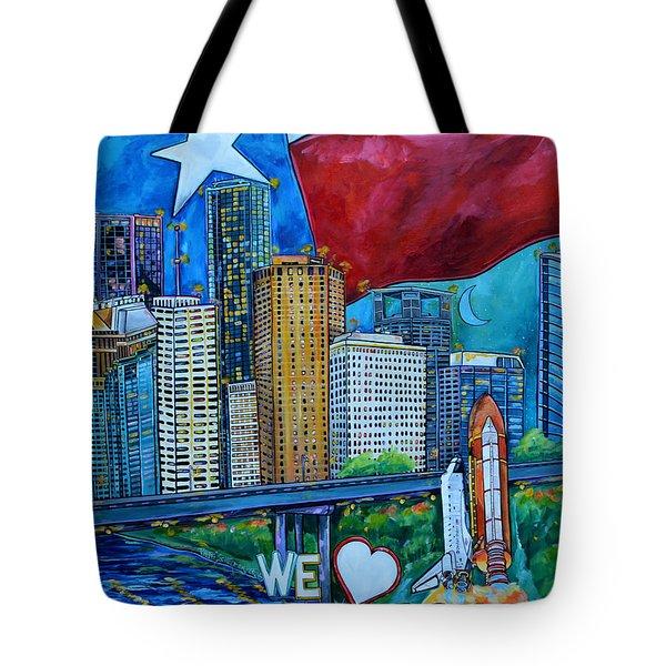 Houston Montage Tote Bag