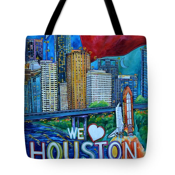 Houston Montage Tote Bag