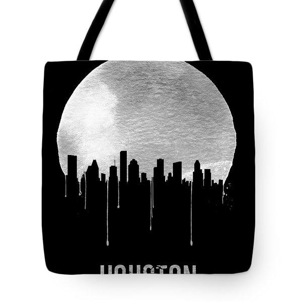Houston Skyline Black Tote Bag