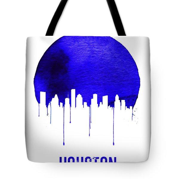 Houston Skyline Blue Tote Bag