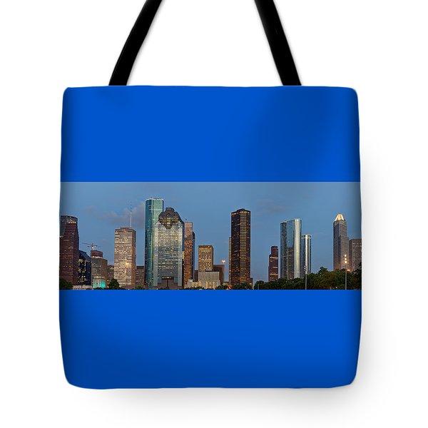 Tote Bag featuring the photograph Houston Skyline Panorama by Jonathan Davison