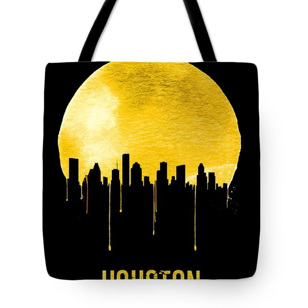 Houston Skyline Yellow Tote Bag