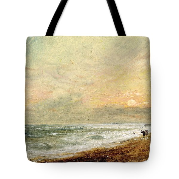 Hove Beach Tote Bag by John Constable