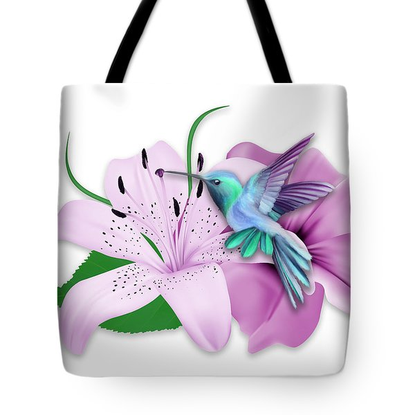 Tote Bag featuring the mixed media Hovering by Marvin Blaine