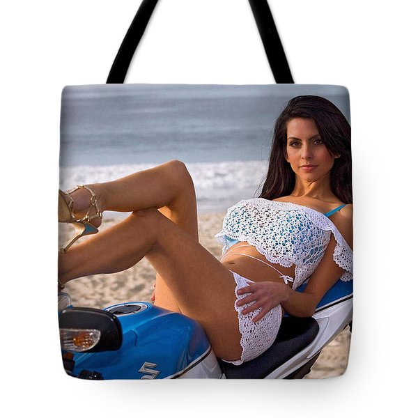 How About Those Legs? Tote Bag by Lawrence Christopher
