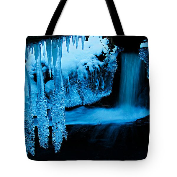 Tote Bag featuring the photograph Ice Flow by Sean Sarsfield