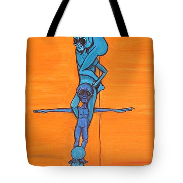 How Many Aliens Does It Take To Screw In A Light Bulb?  Seven. Tote Bag
