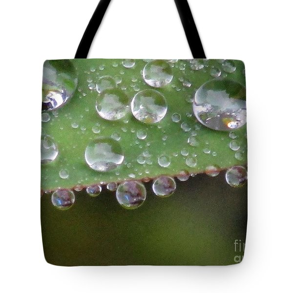 How Many Raindrops Can A Leaf Holds. Tote Bag