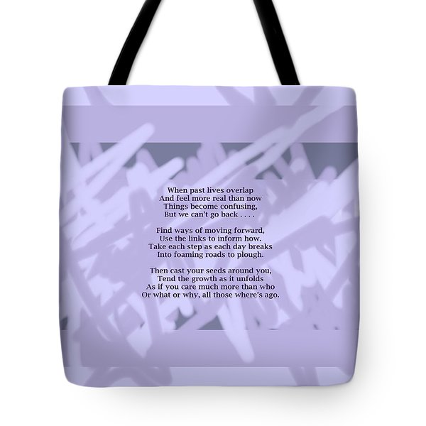 How Now Poem Tote Bag