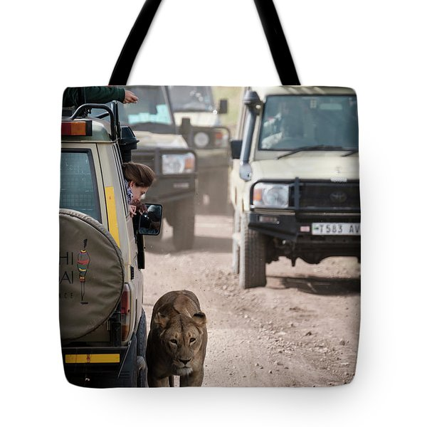 How To Find A Lion In The Serengeti Tote Bag