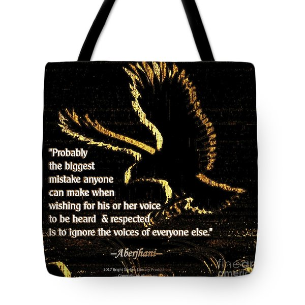 How To Hear Each Other  Tote Bag by Aberjhani