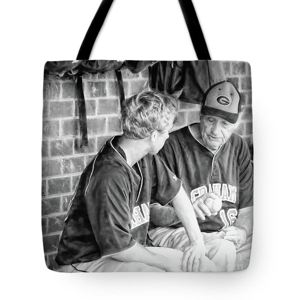 Tote Bag featuring the photograph How To Throw A Curve Ball by Benanne Stiens