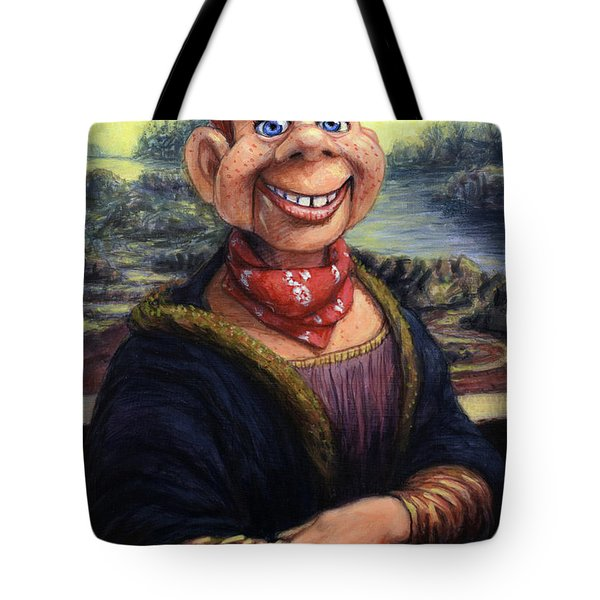 Tote Bag featuring the painting Howdy Doovinci by James W Johnson
