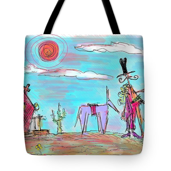 Howdy Pardner...the Frontier Awaits Tote Bag