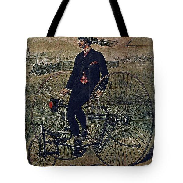 Howe Bicycles Tricycles Vintage Cycle Poster Tote Bag