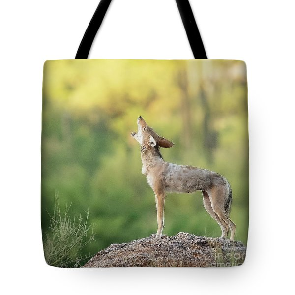 Howling For Breakfast Tote Bag