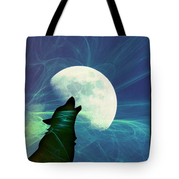 Howling Moon Tote Bag