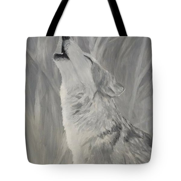 Tote Bag featuring the painting Howling Wolf by Kevin Daly
