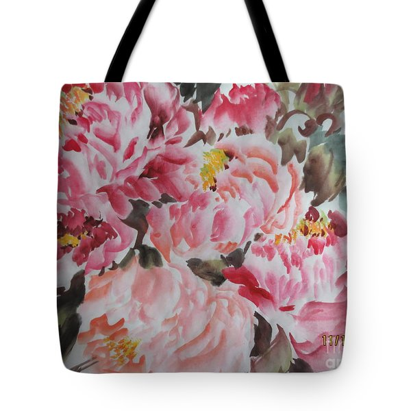 Tote Bag featuring the painting Hp11192015-0755 by Dongling Sun