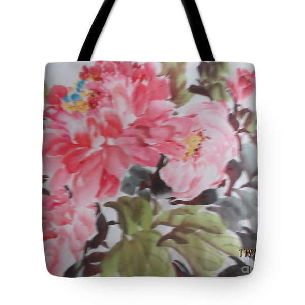 Tote Bag featuring the painting Hp11192015-0757 by Dongling Sun